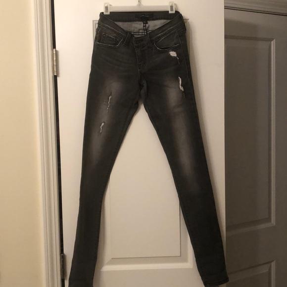 Flying Monkey Denim - Flying Monkey dark grey denim jeans size 25